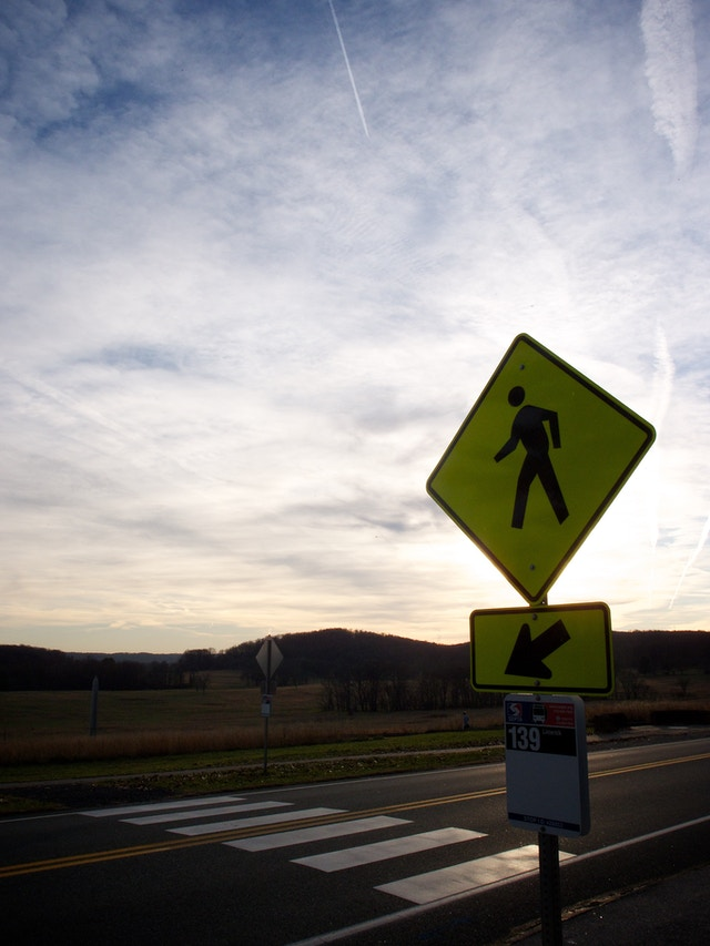 A crosswalk in Valley Forge, PA.