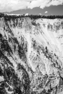 The rocky walls of the Grand Canyon of the Yellowstone.
