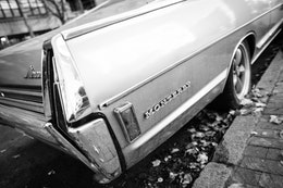 The right rear body panel of a 1968 Mercury Monterey parked on G Street SE, Washington, DC.