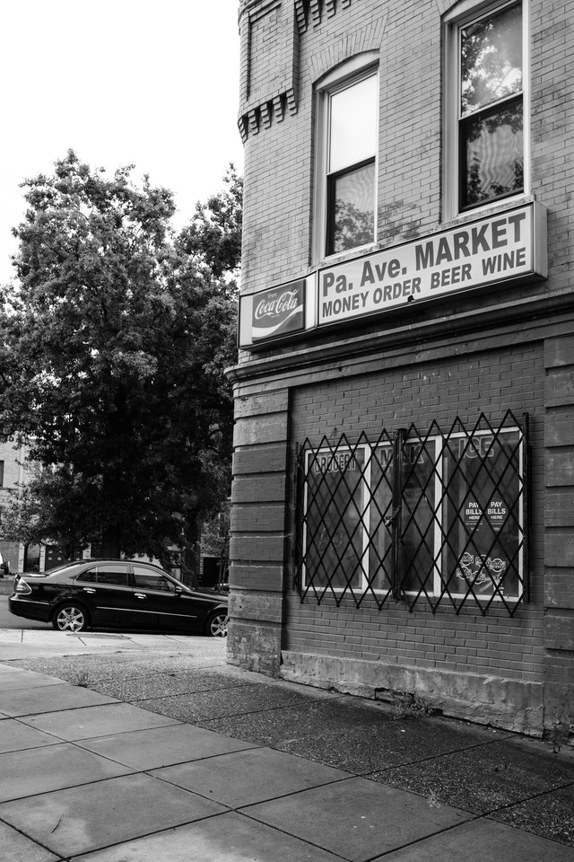 The Pa. Ave. Market on the corner of 15th Street and Pennsylvania Avenue SE.