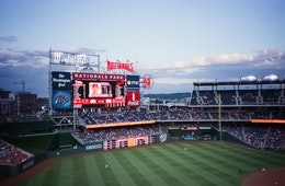 The Nats vs. the Phillies at Nationals Park.