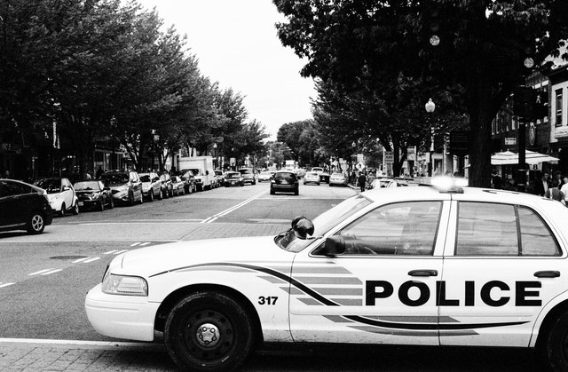 A squad car of the DC Metropolitan Police at Barracks Row in Capitol Hill.