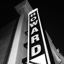 The sign in front of the Howard Theater.