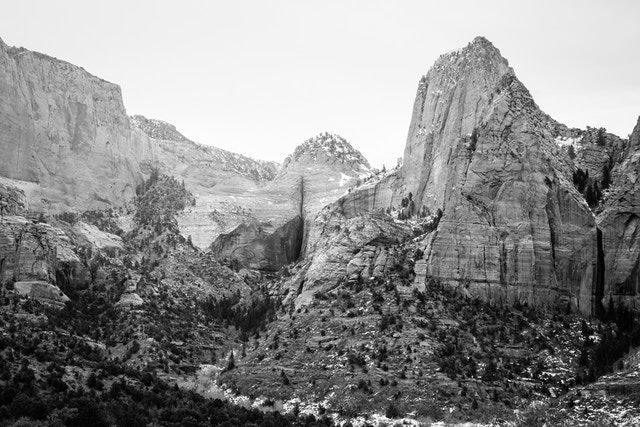 Kolob Canyons in Zion National Park. Nagunt Mesa and Beatty Point can be seen.