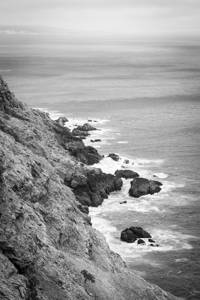 Cliffs near the Point Reyes Lighthouse.