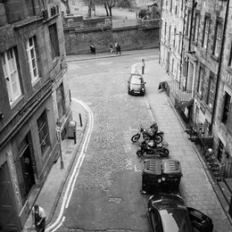 View of Merchant Street from the George IV Bridge.
