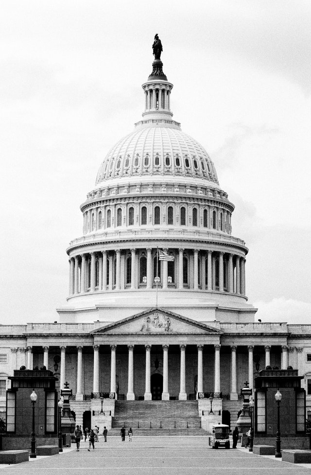 The United States Capitol from the East Front.