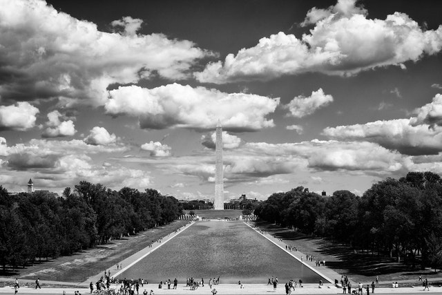 The Washington Monument and the Reflecting Pool, from the Lincoln Memorial.