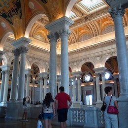 The interior of the Library of Congress.