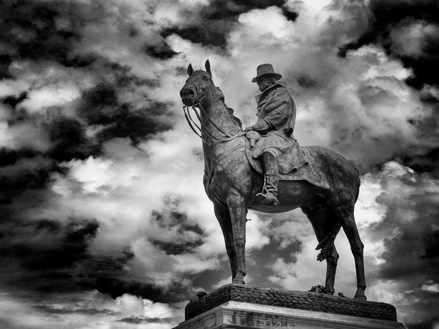 The Ulysses S. Grant Memorial, at the base of Capitol Hill.
