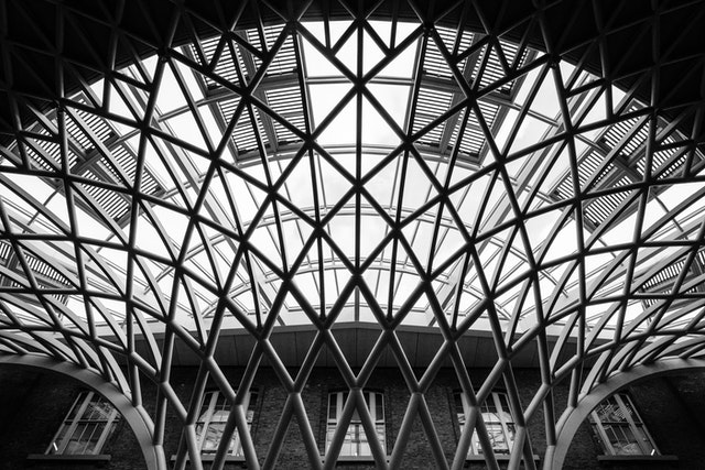 Detail of the roof of King's Cross concourse.