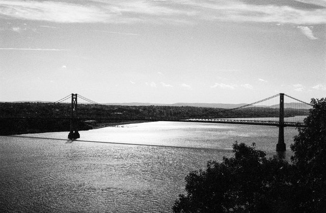 The FDR bridge, from the Walkway Over The Hudson, Poughkeepsie, NY.