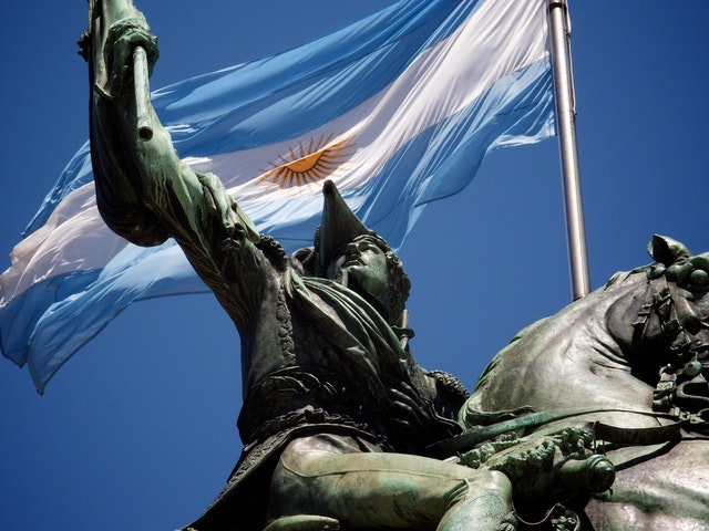 Statue of General San Martín, at the Plaza de Mayo.