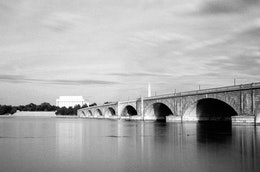 The Arlington Memorial Bridge over the Potomac.