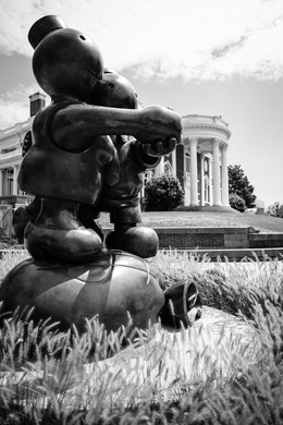 """The """"Free Money"""" sculpture, by Tom Otterness, at the Hunter Museum in Chattanooga."""