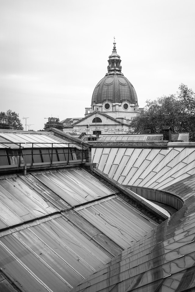 The dome of the London Oratory from the V&A Museum.