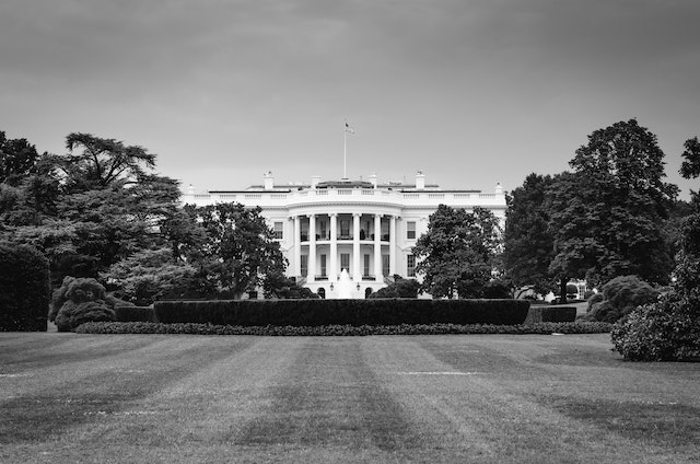South view of the White House.