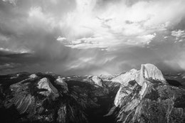 Yosemite Valley and Half Dome, from Glacier Point.