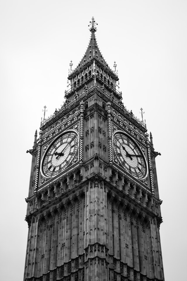 Elizabeth Tower, at the Palace of Westminster.