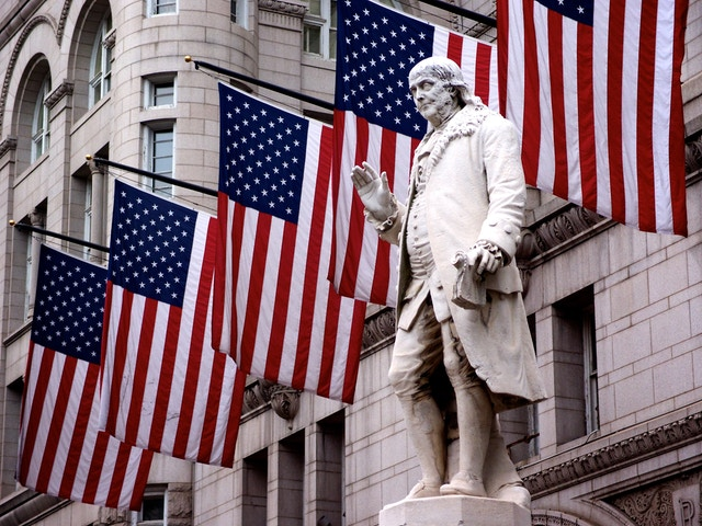 Ben Franklin, at the Old Post Office in Washington, DC