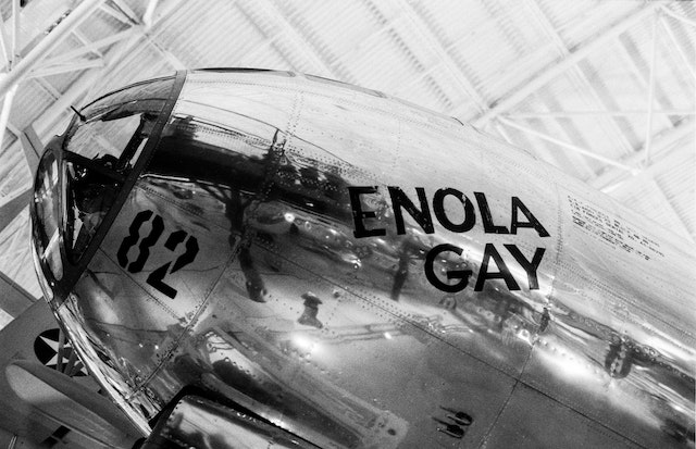 Enola Gay, at the National Air and Space Museum's Udvar-Hazy Center.