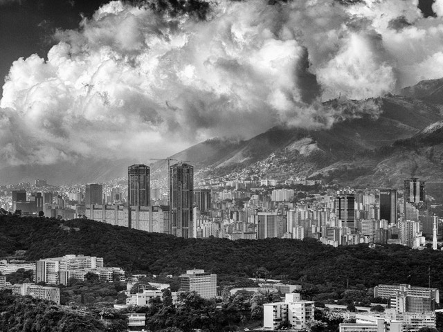 The Caracas skyline, from Valle Arriba.