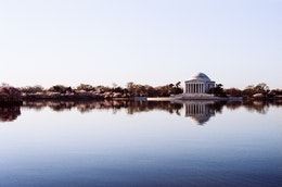 The Jefferson Memorial across the Tidal Basin.