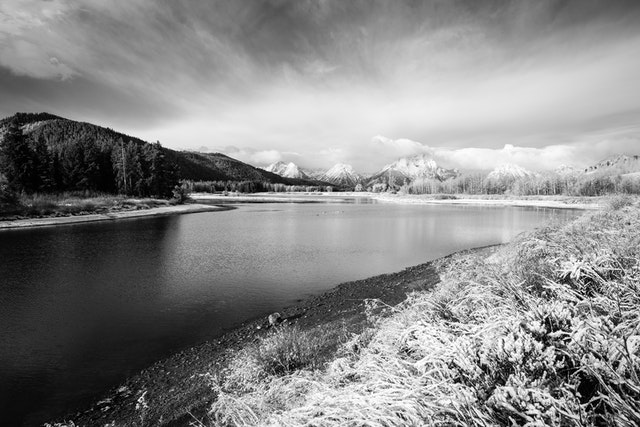 Oxbow Bend after an October snowfall.