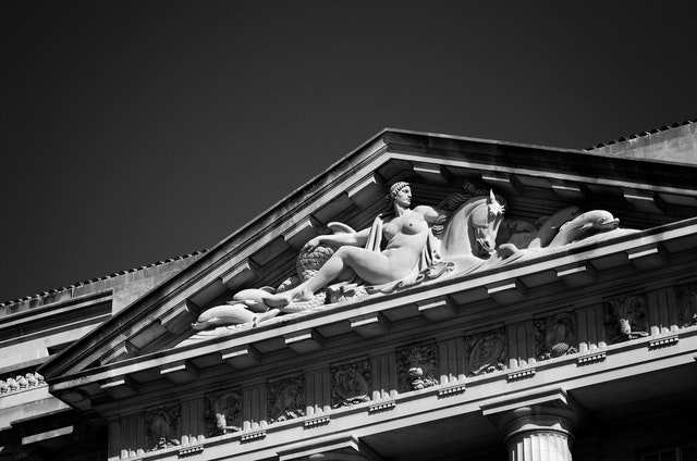 The pediment of the EPA building.