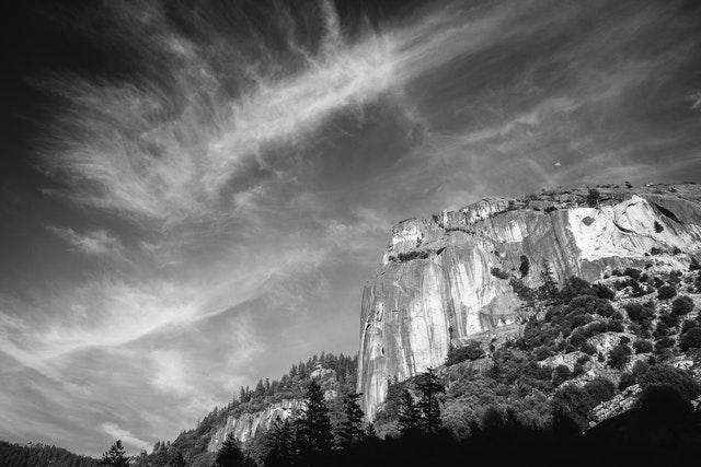 Clouds over Yosemite National Park.