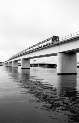 A Metro train over the Potomac.