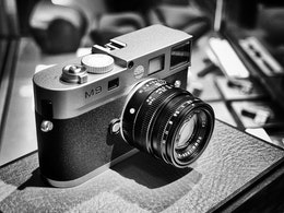 A Leica M9 on display at DC's new Leica Store.