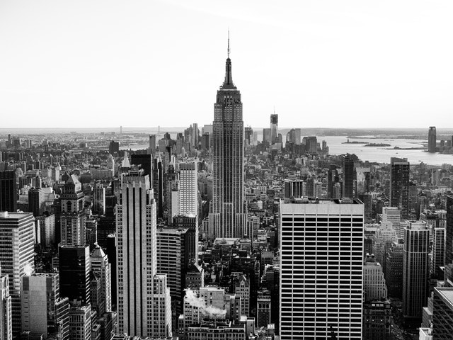 The Manhattan skyline from the Top of The Rock.