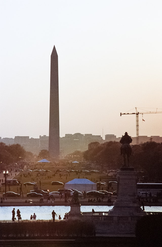 The National Mall at sunset.