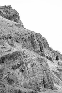A close-up of Millers Butte, at the National Elk Refuge in Wyoming.