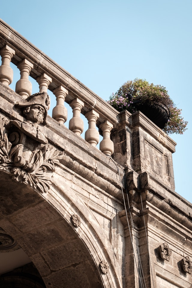 A balcony of the Chapultepec Castle.