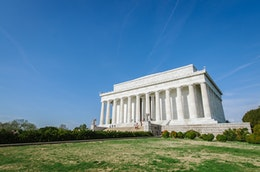 The Lincoln Memorial, in Washington, DC.