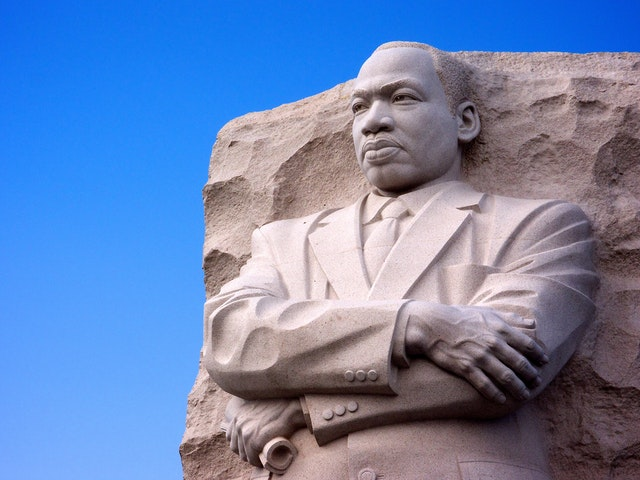 Statue of Dr. Martin Luther King, Jr. at the MLK Memorial in Washington, DC.