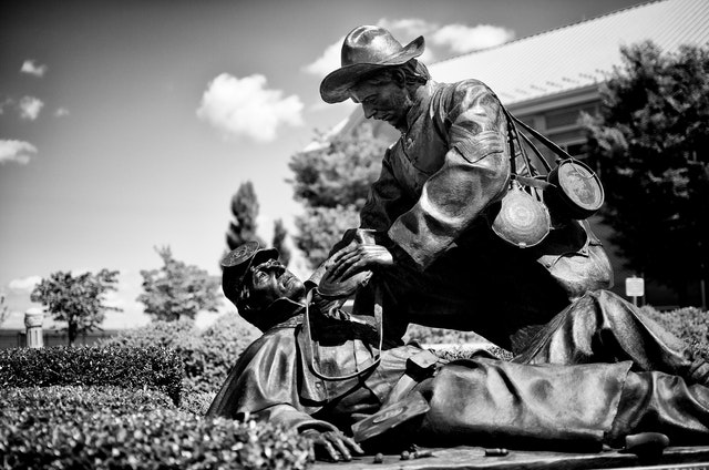 """A Moment of Mercy"", a sculpture at the National Civil War Museum in Harrisburg, PA"