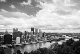 The Pittsburgh skyline from Mount Washington.