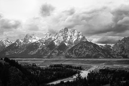 The Tetons and the Snake River from the Snake River Overlook, Grand Teton National Park.
