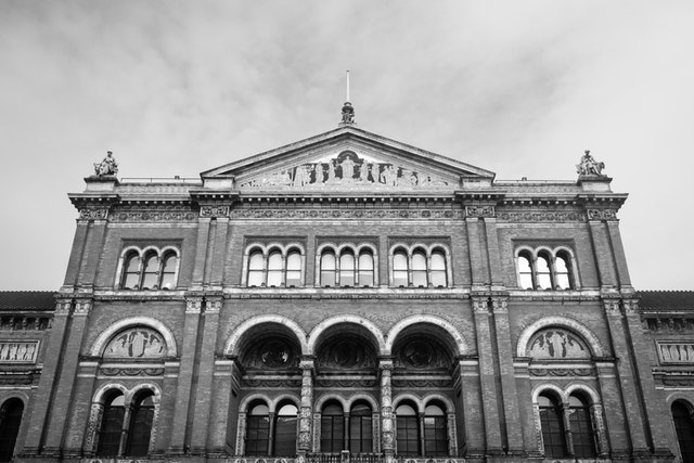 North facade of the Victoria and Albert Museum.
