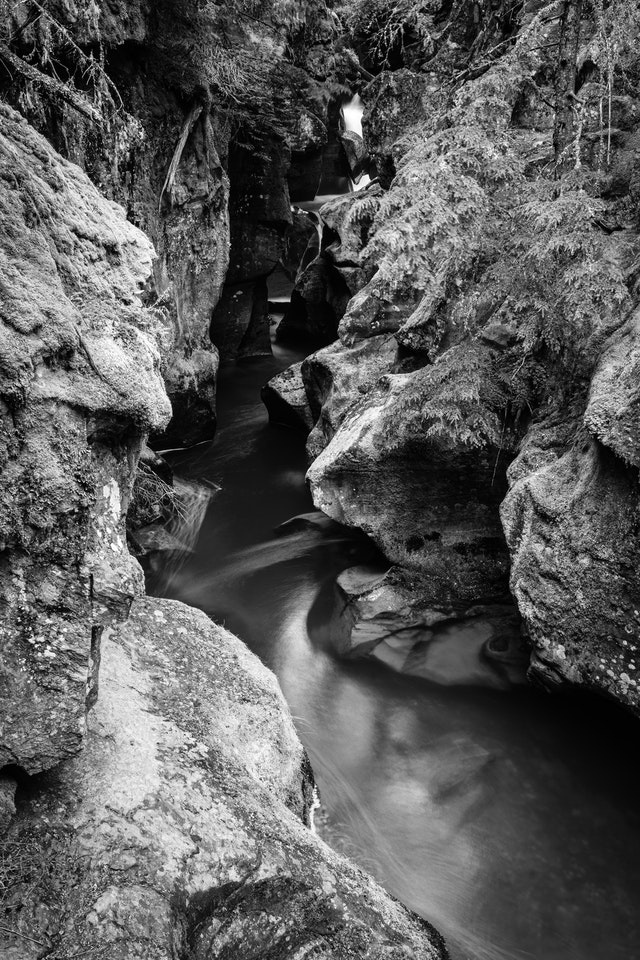 Avalanche Creek, running through Avalance Gorge near the Trail of the Cedars.