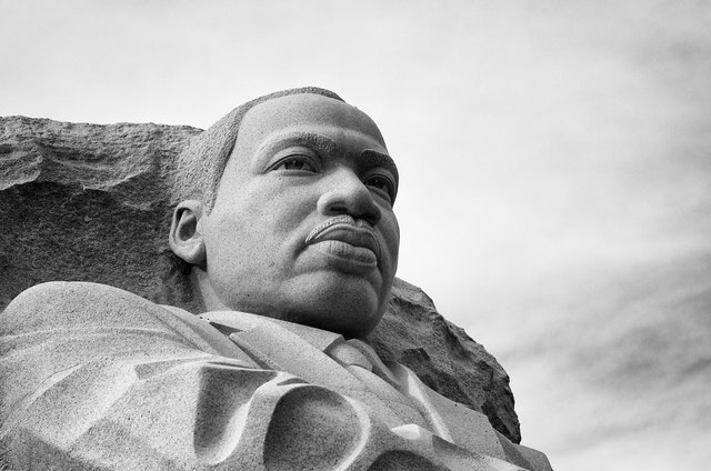 The statue of Martin Luther King at the MLK Memorial.