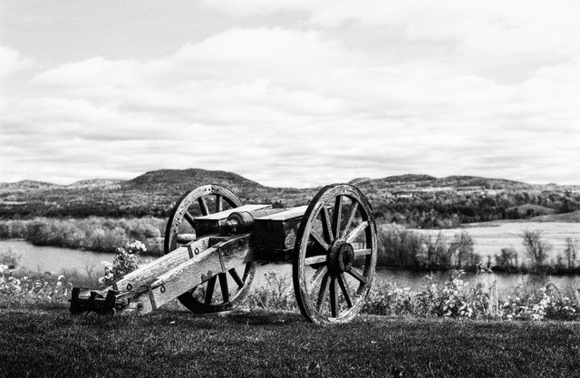 Artillery piece at the Great Redoubt, Saratoga National Historical Park, NY.