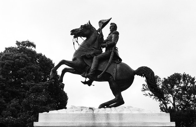 Statue of Andrew Jackson at Lafayette Park in Washington, DC.