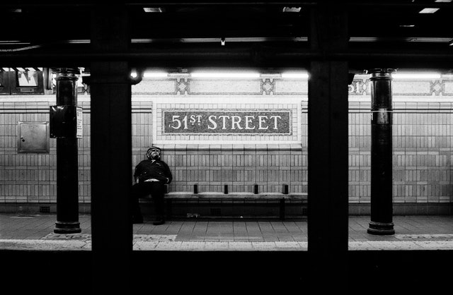 The 51st Street subway station in New York City.