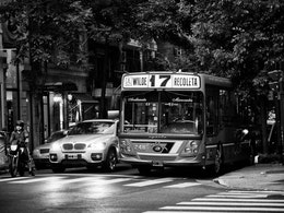 A bus in Recoleta.