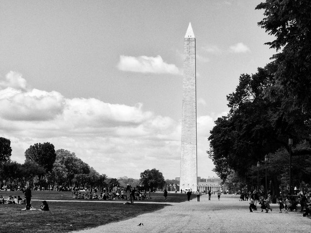 The Washington Monument, from the National Mall.