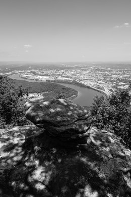 Panoramic view of Chattanooga, from Lookout Mountain.